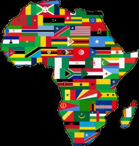 Afrique, nations africaines, drapeaux africains