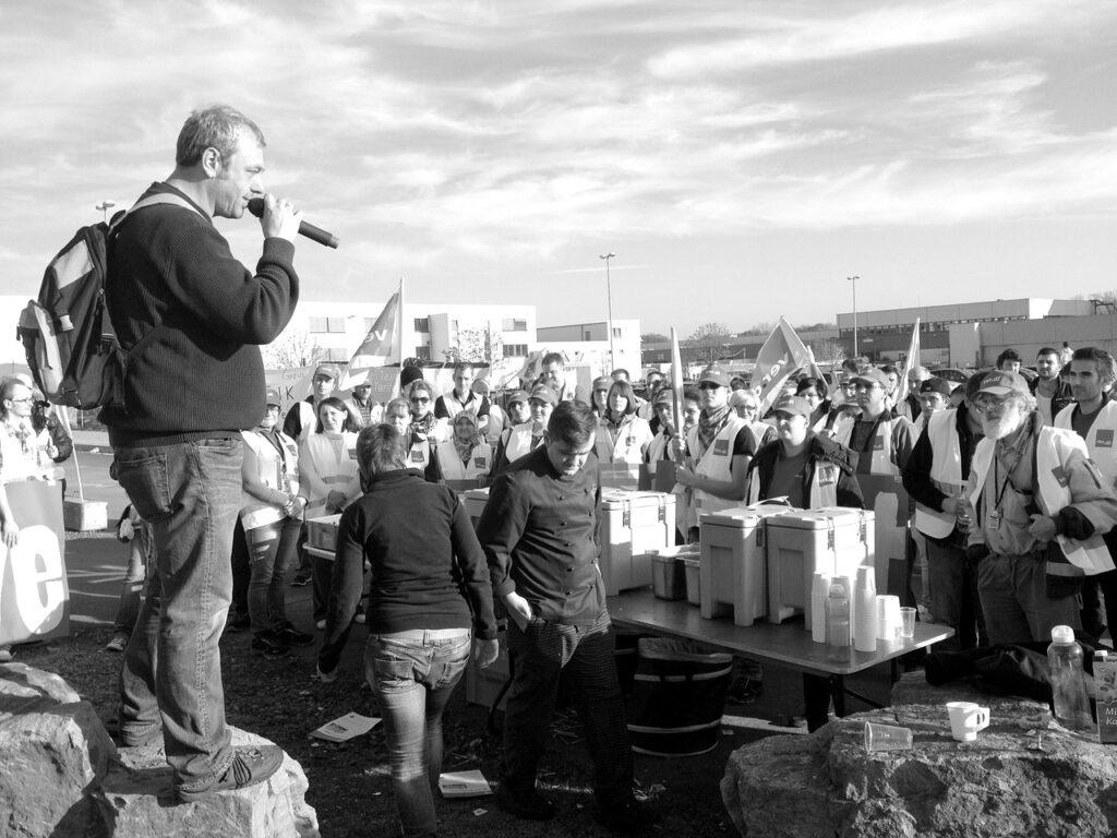 Grève, manifestation, Amazon, syndicat, sydicalisme