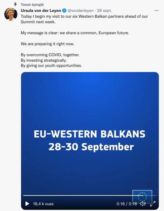 Balkans,Van der leyen,UE,élargissement, est,frexit,referendum,albalnie,monténégro,serbie,macédoine,bosnie,union européenne,tournée